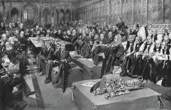 Wall Art - Drawing - House Of Lords, 1902 by Granger