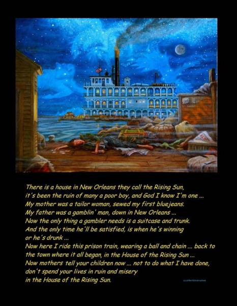 Alcoholism Painting - House Of The Rising Sun by Matt Konar