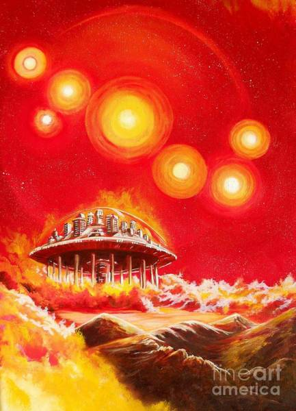 Wall Art - Painting - House Of The Rising Suns by Murphy Elliott
