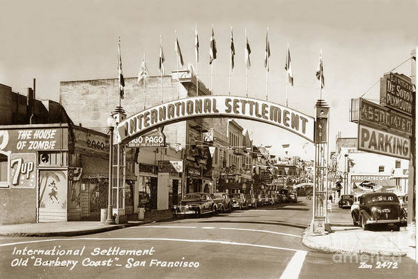Photograph - House Of Zombie  International Settlement Was A Relatively Short by California Views Archives Mr Pat Hathaway Archives