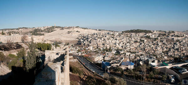 Old Jerusalem Photograph - House On A Hill, Mount Of Olives by Panoramic Images