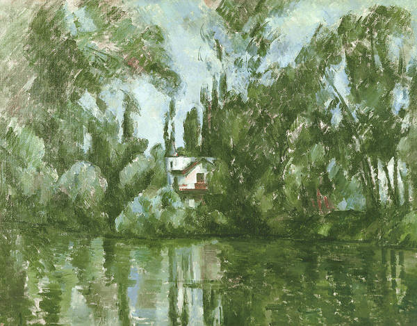 Impressionist Photograph - House On The Banks Of The Marne, 1889-90 Oil On Canvas by Paul Cezanne