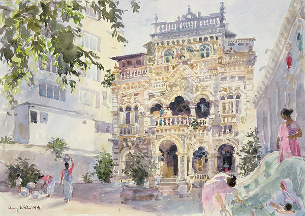 Indian Drawing - House On The Hill, Bombay by Lucy Willis