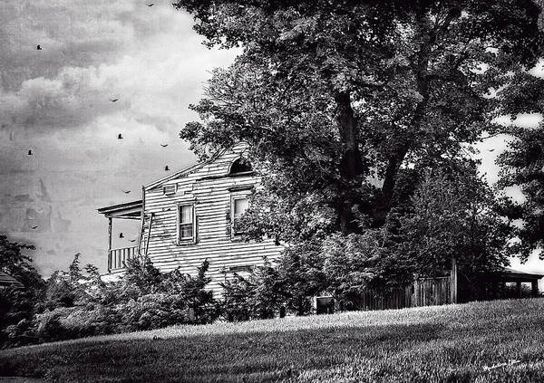 Houses Wall Art - Photograph - House On The Hill In Bw by Madeline Ellis