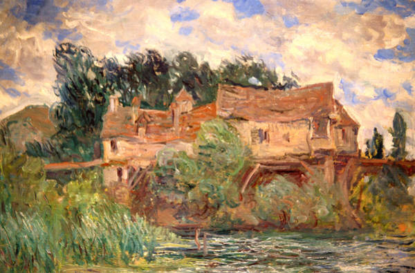 Historic House Digital Art - House On The Old Bridge by Claude Monet