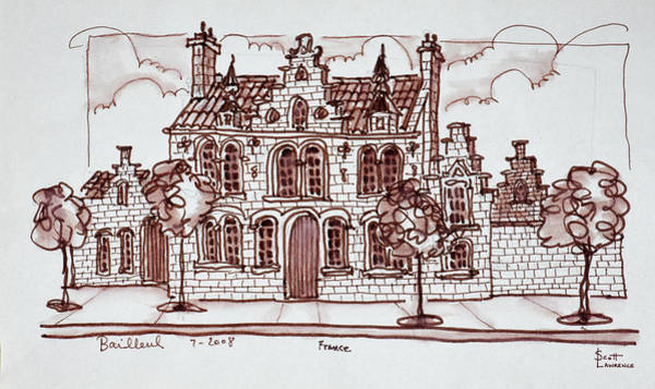 Ink Sketch Photograph - House Styled In The Flemish by Richard Lawrence