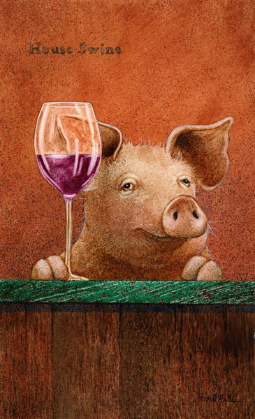Pig Painting - House Swine... by Will Bullas