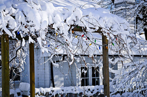 Yard Photograph - House Under Snow by Elena Elisseeva