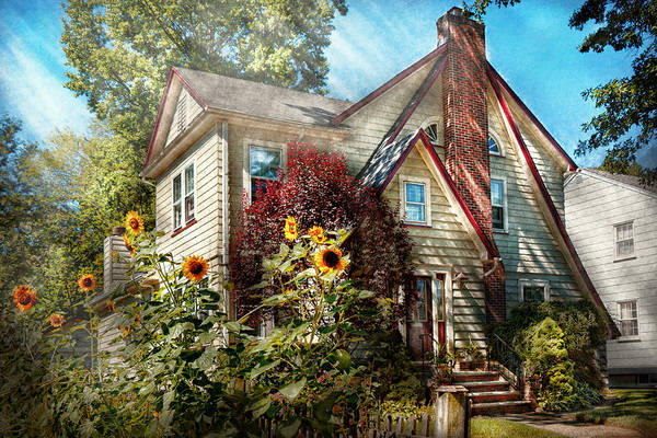 Photograph - House - Westfield Nj - The Summer Retreat  by Mike Savad