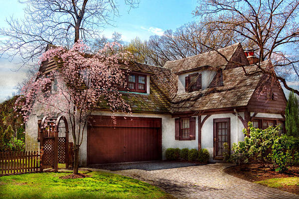 Photograph - House - Westfield Nj - Who Doesn't Love Spring  by Mike Savad