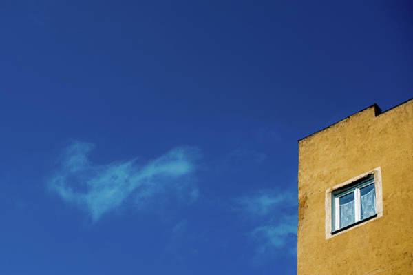 House Window And Blue Sky Art Print