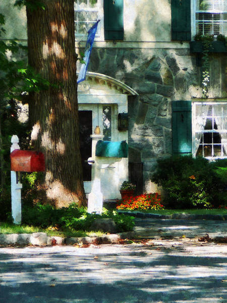 Photograph - House With Turquoise Shutters by Susan Savad