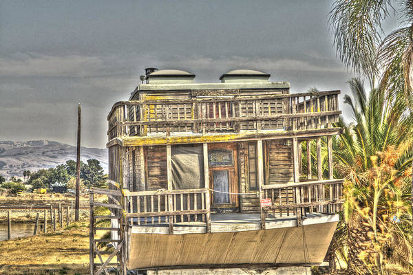 Alviso Photograph - Houseboat 2 by SC Heffner