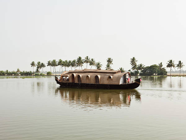 Houseboat Photograph - Houseboat, India by Matthew Wakem