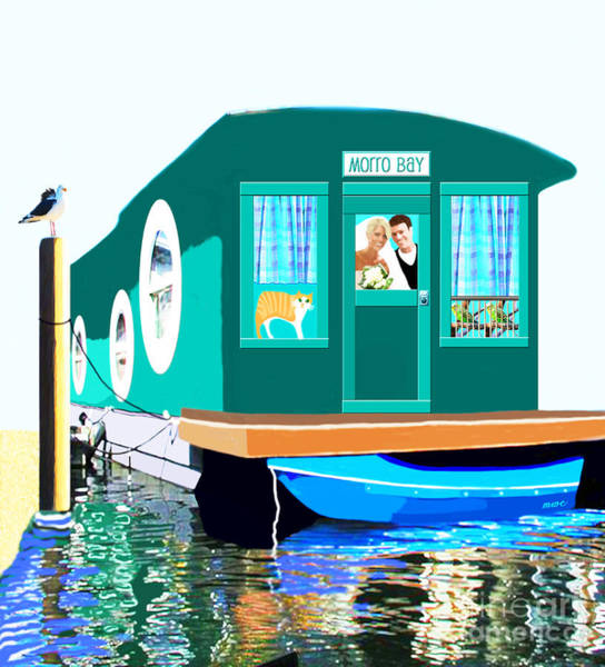 Painting - Houseboat by Marian Cates