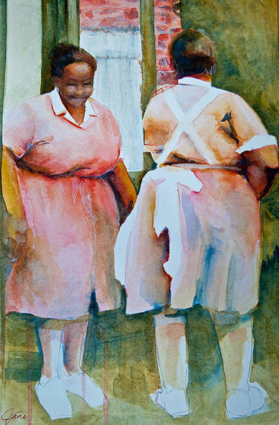 Painting - Housekeepers Of Soniat House by Jani Freimann