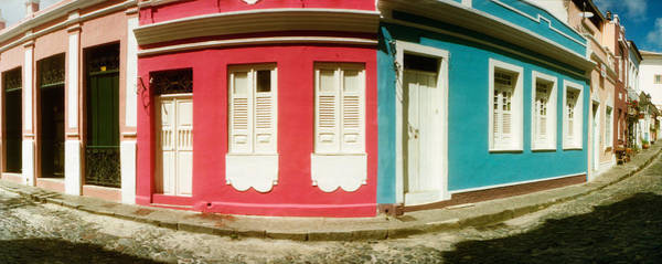 Pelourinho Photograph - Houses Along A Street In A City by Panoramic Images