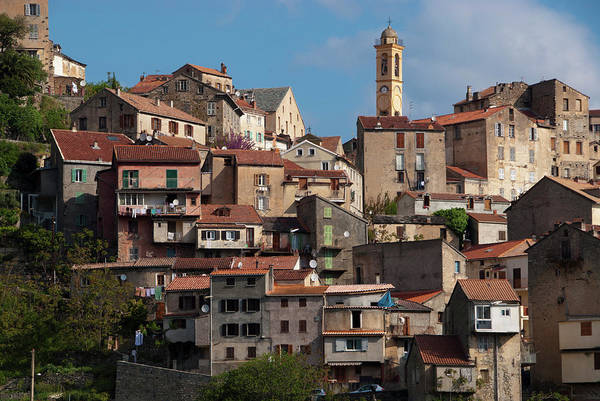Headlands Photograph - Houses And Bell Tower Of Eglise De by Martin Moos