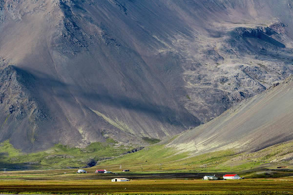 Wall Art - Photograph - Houses And Volcano, South Iceland by Raffi Maghdessian