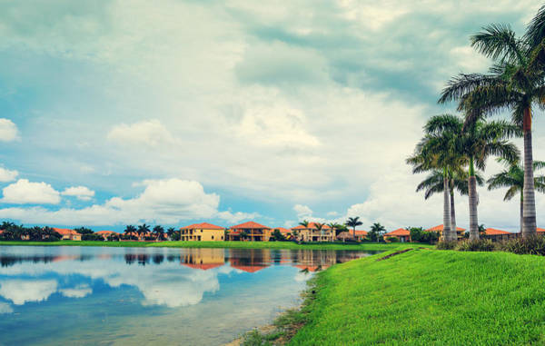 Small Town Usa Photograph - Houses By The Lake by Thepalmer