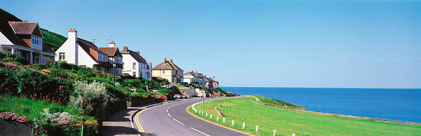 Exmoor Photograph - Houses Exmoor Rockham Bay England by Panoramic Images