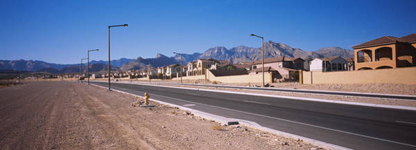 Housing Development Photograph - Houses In A Row Along A Road, Las by Panoramic Images