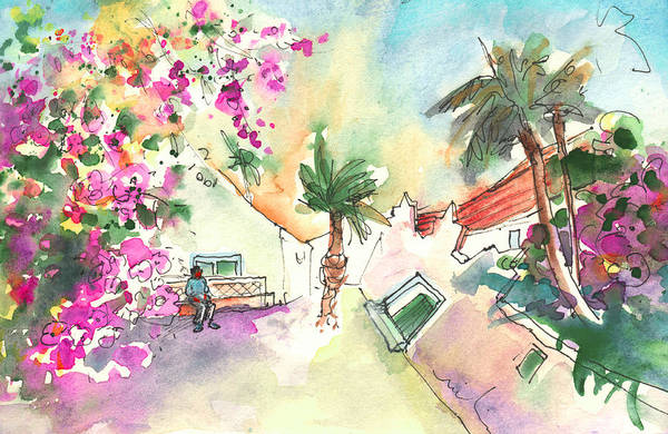 Painting - Houses In Yaiza In Lanzarote by Miki De Goodaboom