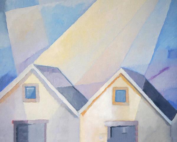 Painting - Houses by Lutz Baar