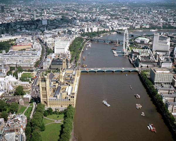 London Eye Photograph - Houses Of Parliament by Alex Bartel/science Photo Library