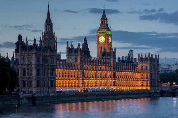 Democracy Photograph - Houses Of Parliament And Big Ben Are by Charles Bowman