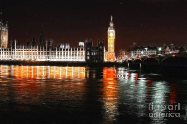 Photograph - Houses Of Parliament And Big Ben - Fractalius by Doc Braham