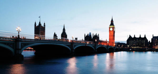 The Clock Tower Photograph - Houses Of Parliament And River Thames by Gary Yeowell