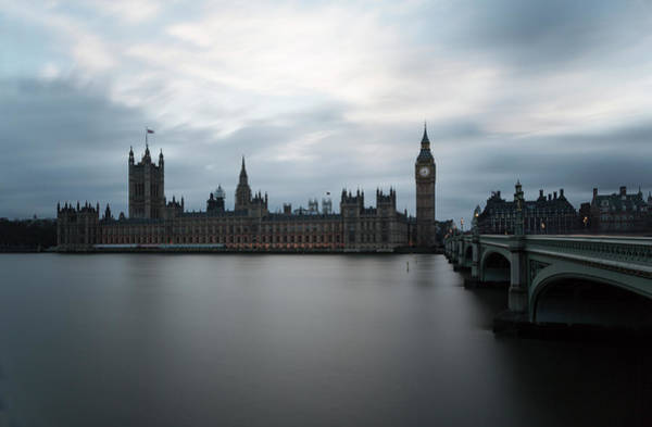 Thompson River Photograph - Houses Of Parliament And River Thames by P A Thompson