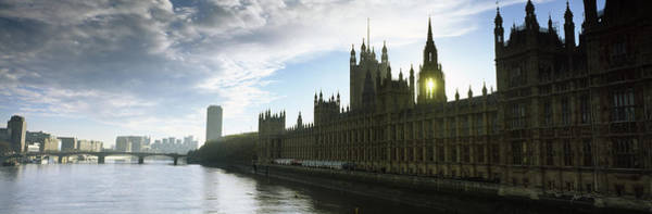 Houses Of Parliament Wall Art - Photograph - Houses Of Parliament At The Waterfront by Panoramic Images