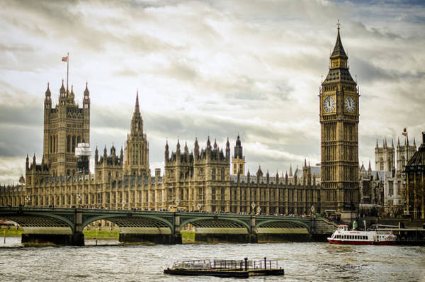 Southbank Photograph - Houses Of Parliament On The Thames by Heather Applegate