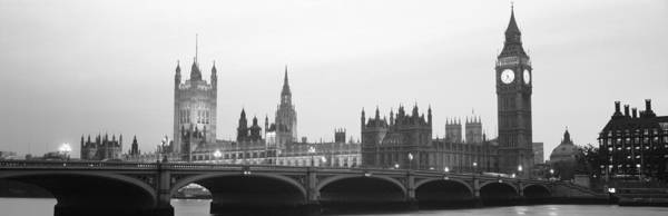 Houses Of Parliament Wall Art - Photograph - Houses Of Parliament Westminster Bridge by Panoramic Images