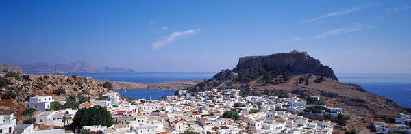 Dodecanese Photograph - Houses On An Island, Lindos, Rhode by Panoramic Images