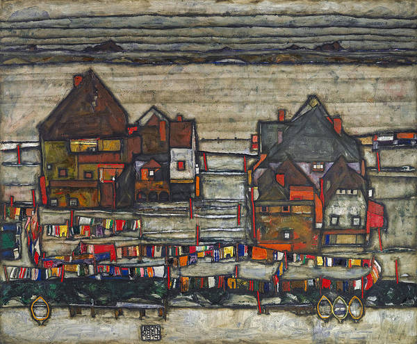 Painting - Houses With Laundry by Celestial Images