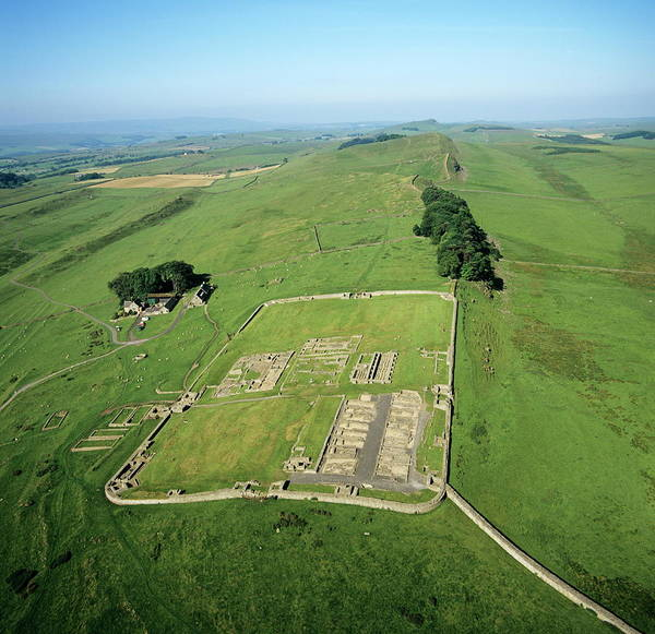 Roman Fort Photograph - Housesteads Roman Fort by Skyscan/science Photo Library