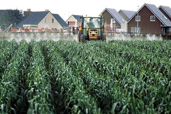 Housing Project Photograph - Housing Project Next To A Farm by Christophe Vander Eecken/reporters/science Photo Library