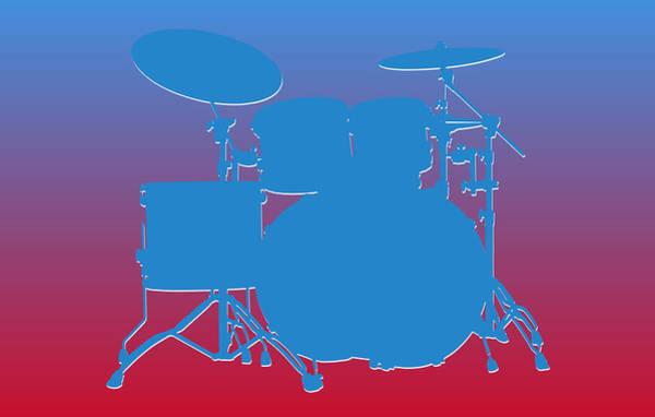 Wall Art - Photograph - Houston Oilers Drum Set by Joe Hamilton
