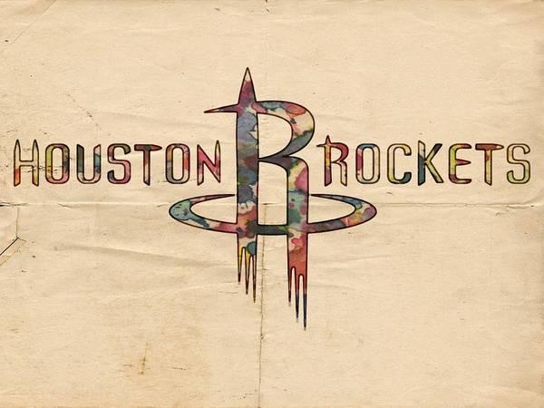 Slamdunk Painting - Houston Rockets Poster Art by Florian Rodarte