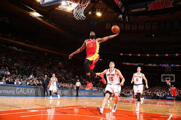 Madison Square Garden Photograph - Houston Rockets V New York Knicks by Nathaniel S. Butler