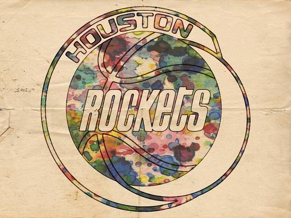 Painting - Houston Rockets Vintage Poster by Florian Rodarte