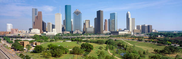 Wall Art - Photograph - Houston Skyline, Memorial Park, Texas by Panoramic Images
