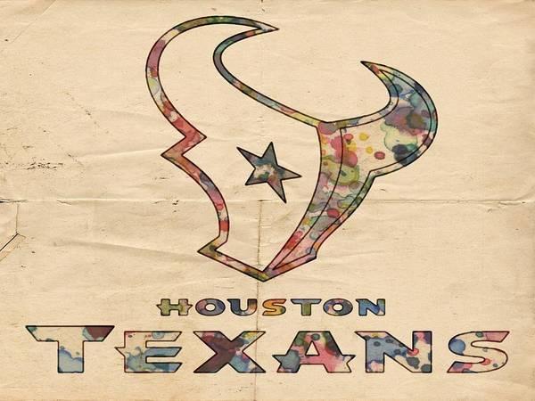 Painting - Houston Texans Poster Vintage by Florian Rodarte