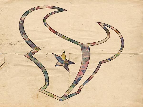 Painting - Houston Texans Vintage Logo by Florian Rodarte