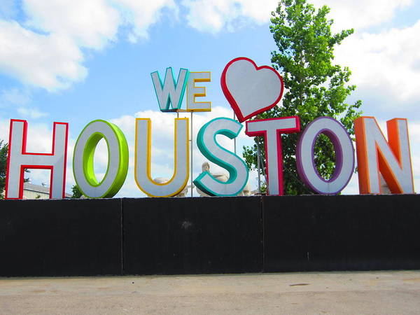 Photograph - We Love Houston by Dan Sproul