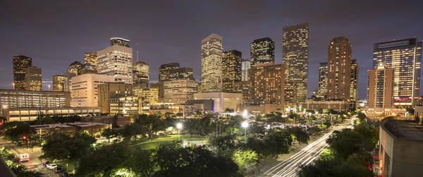 Houston Texas Skyline Panorama Art Print by Pgiam