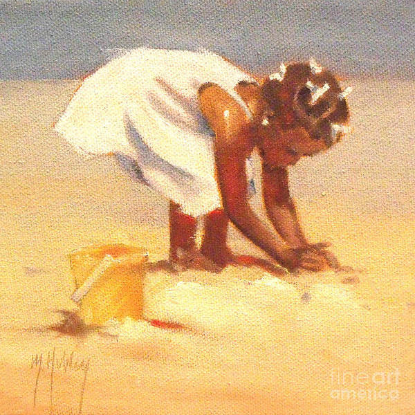 Sand Castle Painting - How Castles Start by Mary Hubley